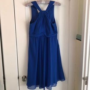 David's Bridal Royal Blue Bridesmaid Dress